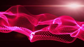 Motion Graphic Elements red. graphic wave. the shape are particles stock video footage