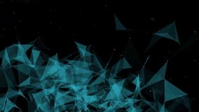 Motion graphic of plexus shapes stock footage