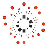 Motion graphics. A pictogram to symbolize motion graphics - red Stock Photo