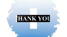Thank you animation intro outro. Motion graphics - thank you animation intro outro stock video footage