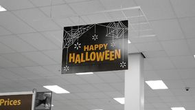 Motion of happy halloween sign