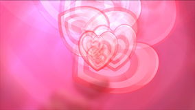 Motion Hearts Background. Love And Wedding Hearts Video Background stock video