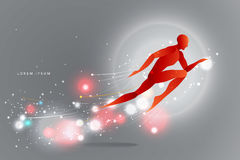 The motion of humans. silhouette of a jumping man. suitable use Royalty Free Stock Images