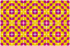 Motion illusion (Expansion). Op Art. Optical illusion, expansion, bulge and distortion. Hypnotic illusion. Abstract background, seamless pattern Stock Images