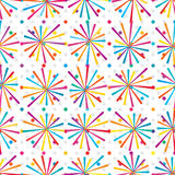 Motion line colorful seamless pattern. This illustration is abstract website waiting motion lines with colorful in dotted background on white color background Stock Photography