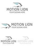 Motion lion logo. Illustration of motion lion logo design isolated on white background Royalty Free Stock Images