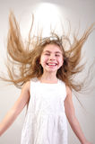 Motion long hair Stock Photo