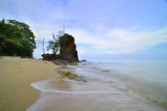 Motion Of Bungkuk Beach Singkep Island Riau Stock Images