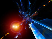 Motion Particles Abstract Royalty Free Stock Photos