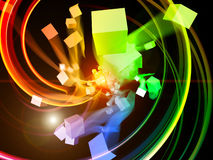 Motion Particles Abstract Royalty Free Stock Photo