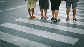 Motion of pedestrian zebra crossing or crosswalk in Asia. Stock Photography