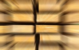 Motion perspective effect approaching speed bright rays perspective stack of horizontal boards focus on end blur energy background stock image