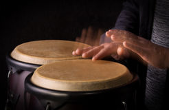 Motion Picture of a bongo Player Royalty Free Stock Images