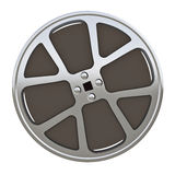 Motion picture film reel. 16 mm motion picture film reel - isolated on white background vector illustration