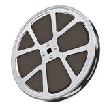 Motion picture film reel. 16 mm motion picture film reel - isolated on white background royalty free illustration