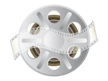 Motion picture film spool Royalty Free Stock Photo
