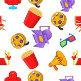 Motion picture pattern, cartoon style. Motion picture pattern. Cartoon illustration of motion picture vector pattern for web Royalty Free Stock Photos