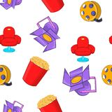 Motion picture pattern, cartoon style. Motion picture pattern. Cartoon illustration of motion picture vector pattern for web Stock Image