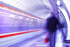 Motion picture in the subway Stock Image