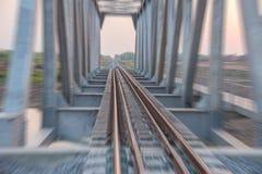 Motion. The railway bridge, Motion blur Stock Photo