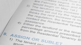 Motion of residential tenancy agreement Royalty Free Stock Image