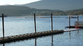 Motion of river dock at Rocky point park. In Port Moody stock footage