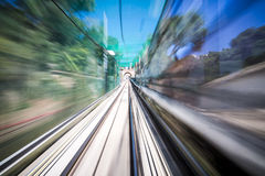 Motion shoot out of a moving train Stock Photography
