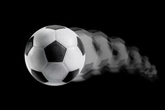 Motion of soccer ball Royalty Free Stock Images