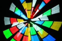 Motion of spinning neon light Stock Photo
