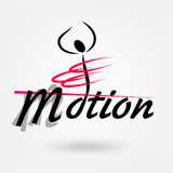 Motion sport  logo Royalty Free Stock Image