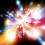 Motion star and glitter background Stock Images