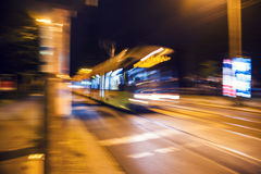 Motion Street Car Royalty Free Stock Photo