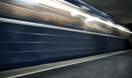 Motion subway Stock Images