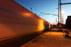 Motion Train in Station Stock Photography