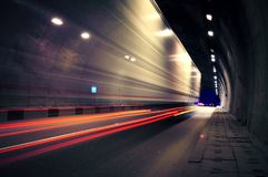 Free Motion Truck Go Through The Tunnel Stock Image - 103609771