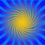 Abstract Mysterious Vortex. Motion tunnel with yellow light Royalty Free Stock Images
