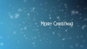 Motion video of Christmas snowflakes stock footage