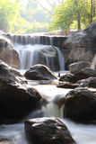 Motion of waterfall in western Thailand Stock Photo