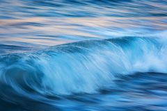 Motion of waves in ocean.  Royalty Free Stock Photos