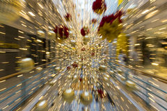 Motion zoom with christmas ornament decorate Stock Photos