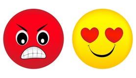 Émotions fâchées et d'amour Image stock