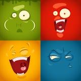 Émotions mignonnes de bande dessinée Photographie stock libre de droits