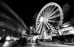 Motions. Night view of Hong Kong Observation Wheel Royalty Free Stock Image