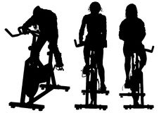 Motionscykel tre Royaltyfria Foton