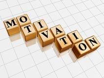 Motivação dourada Imagens de Stock