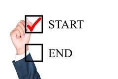 A motivação escolhe o começo é melhor solução para o sucesso Fotografia de Stock Royalty Free