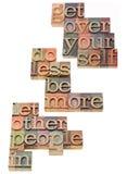 Motivação pessoal e social Foto de Stock Royalty Free