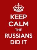 A motivação vermelho-branca retangular vertical os russos fê-lo cartaz baseado no estilo retro do vintage Imagens de Stock