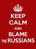 A motivação vermelho-branca retangular vertical os russos responsabiliza o cartaz baseado no estilo retro do vintage Fotografia de Stock Royalty Free