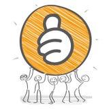 Motivade stick figure. Stick figure team motivated - illustration vector illustration
